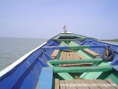 Viagem de barco até à Ilha James, Gambia