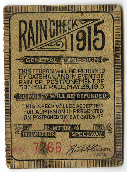 1915 indianapolis 500 ticket flickr photo sharing for Indianapolis motor speedway ticket office