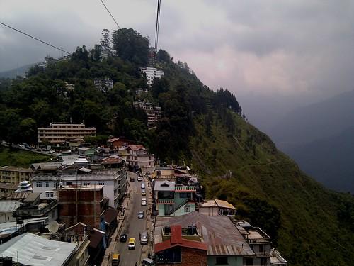 Ropeway ride at Gangtok