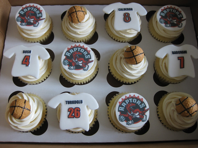 Raptors Basketball Cupcakes | Flickr - Photo Sharing!