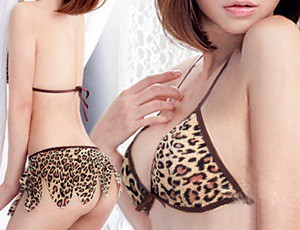 Thumbnail image for Leopard Bra with Mini set