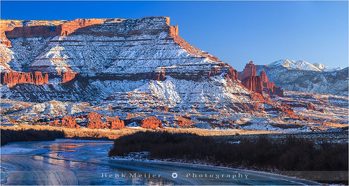 "winter sunset usa mountain mountains tower canon river landscape photography utah colorado unitedstates towers fisher moab meijer henk lasal floydian towers"" canoneos1dsmarkiii henkmeijer ""fisher"
