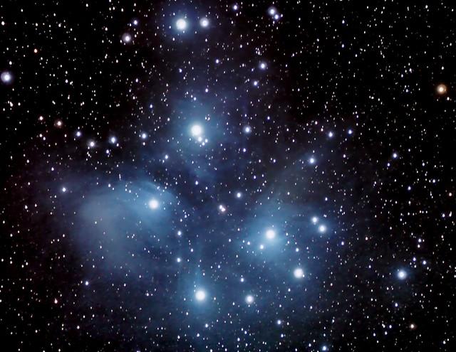 A bouquet of stars, M45, The Pléiades