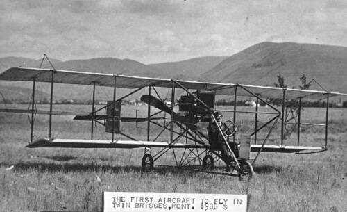 First Airplane to Land in Twin Bridges, Montana (Ca. 1900)