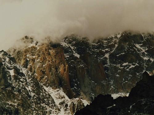 """Monte Bianco, Pilastro Rosso dal libro """"Giorno per giorno, l'avventura"""" di Walter Bonatti"""