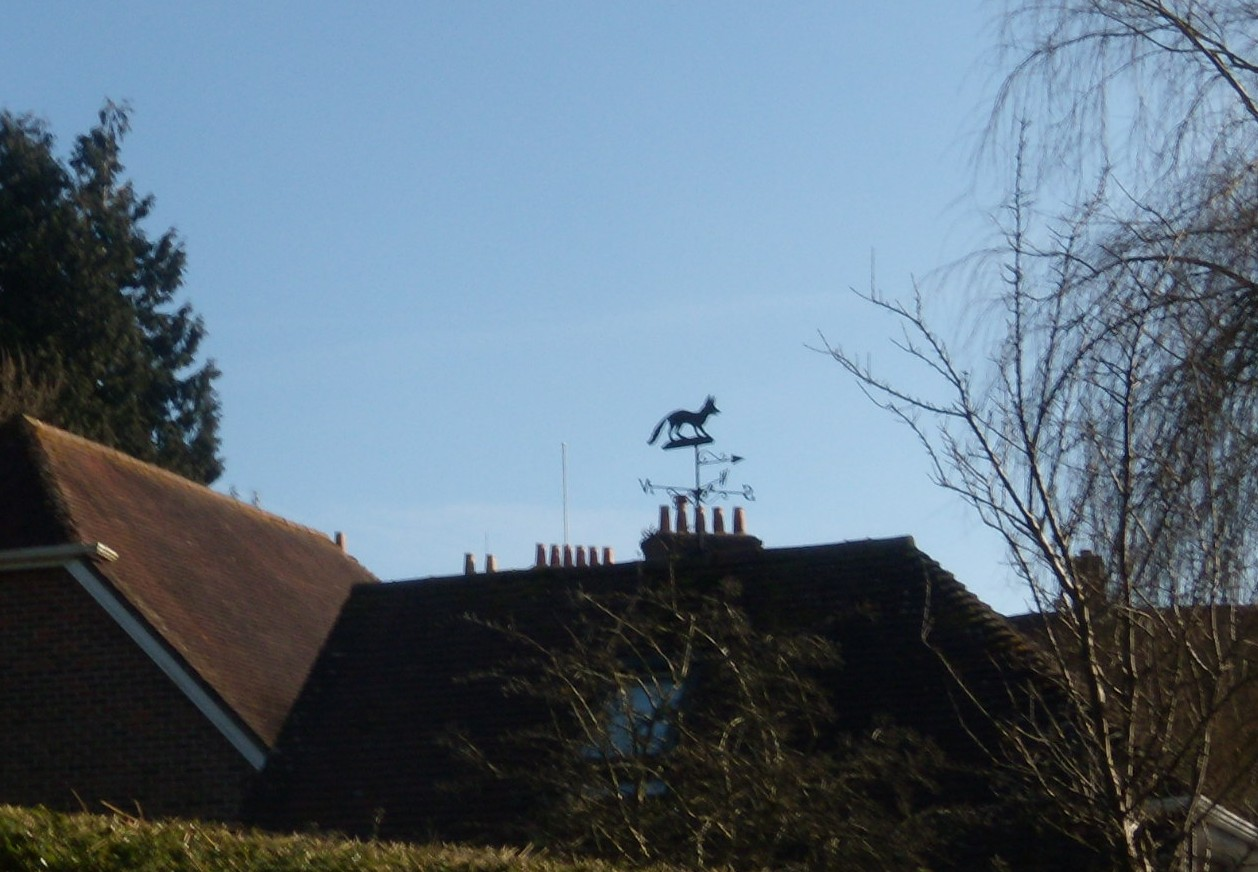 Fox weathervane Petersfield to Rowlands Castle