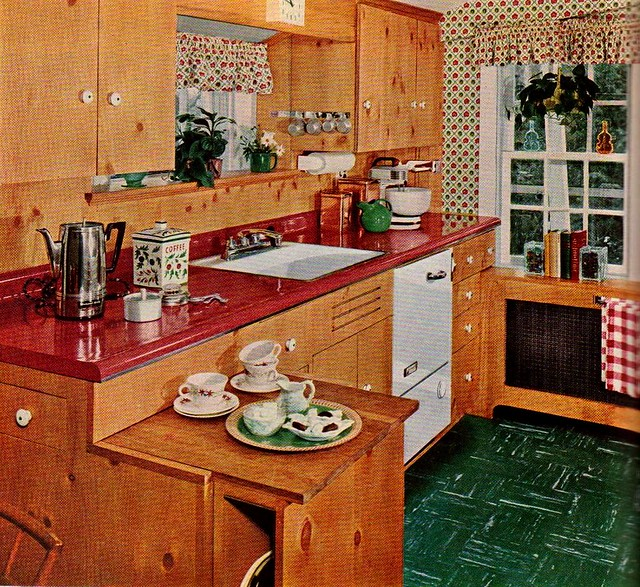 """Knoty Pine Kitchen Cabinets: """"Knotty Pine Cabinets Give A War"""