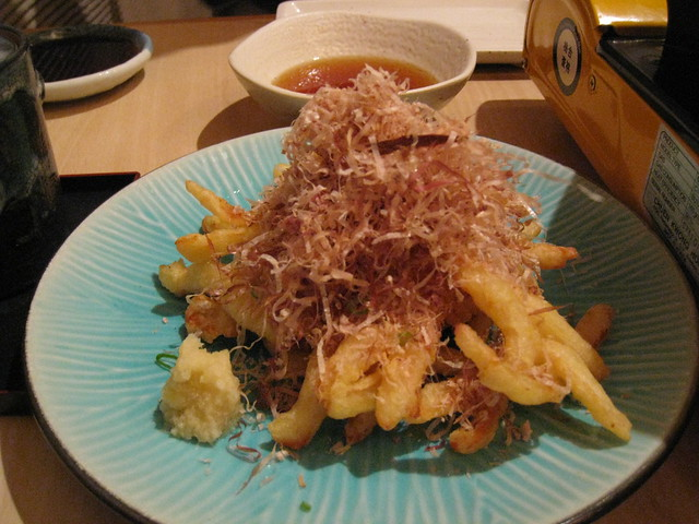 Squid tempura | Squid tempura with bonito on top | By: RosieTulips ...