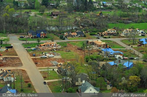 Murfreesboro Tornado Aerial