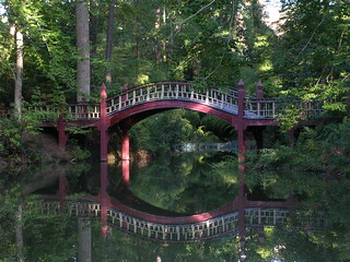 The bridge over the Crim Dell at the College of William and Mary