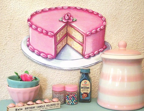 Pink buttercream layer cake jumbo die cut by Everyday is a Holiday