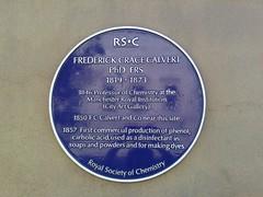 Photo of Frederick Crace Calvert blue plaque