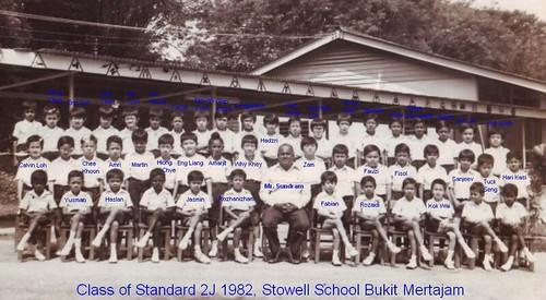 Class of Standard 2J 1982 Stowell Bukit Mertajam..