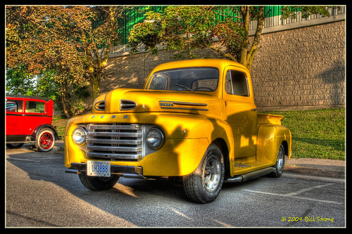 ford yellow truck pickup hdr dunnville photomatix 3exp dunnvillecruiserscarclub