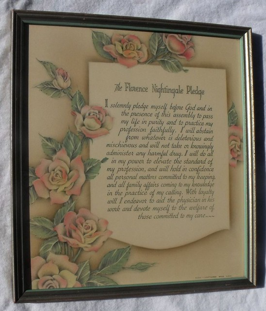 The Florence Nightingale Pledge From Www Rubylane Com