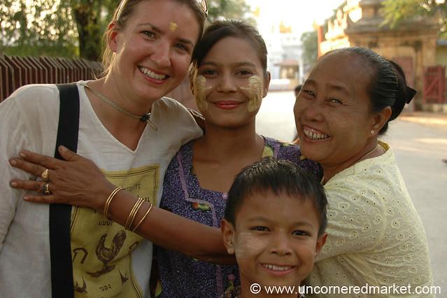 Friendly Burmese Family - Mandalay, Burma
