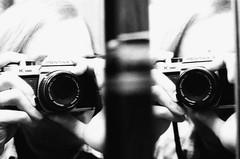 cameras & optics, digital camera, camera, white, photograph, mirrorless interchangeable-lens camera, digital slr, monochrome photography, close-up, camera operator, monochrome, black-and-white, black, reflex camera,
