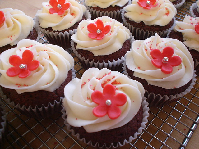 Red Velvet Birthday Cupcakes | Flickr - Photo Sharing!