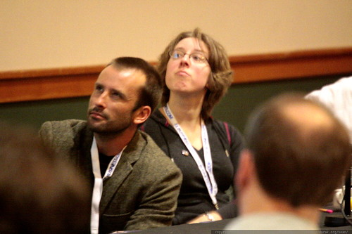 aaron kahlow and susan moskwa   on site insight! technical seo advice from the pros   sempdx searchfest 2009    MG 9404
