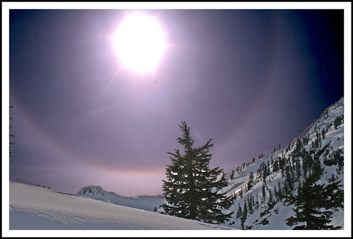 Sun Halo at Artist's Point, Washington State