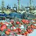 Russian trawlers in Kirkenes by Bozze