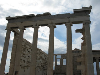 Image of Erechtheum near Athens. hellas athens parthenon greece 100views acropolis 50views erechtheum openstreetmap ελλάδα ακρόπολη αθήνα παρθενώνασ έρέχθειον address:city=athens dvdphotos12 osm:way=27917276 address:country=greece osm:node=353861002