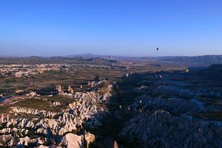 Up above Cappadocia in a hot air balloon, Turkey