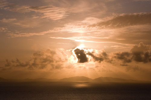 Setting Sun Over North Uist