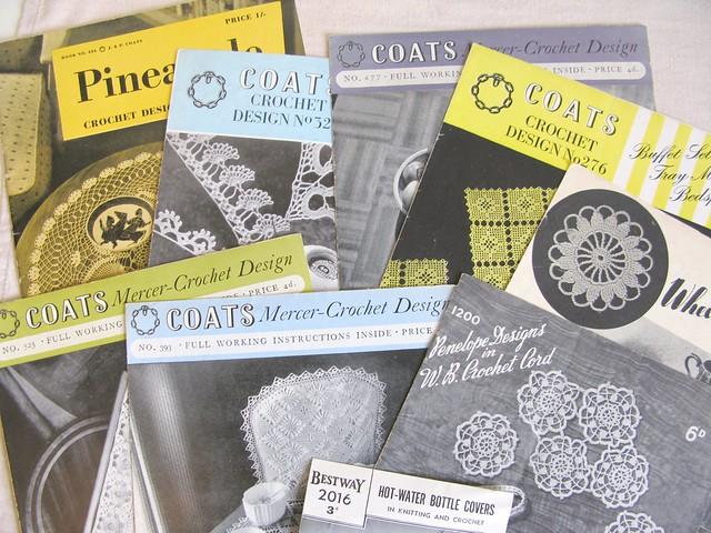 Thrifted vintage Coats crochet leaflets | Emma Lamb