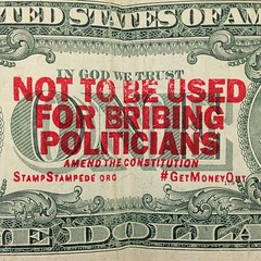 Check out www.stampstampede.org ! #GetMoneyOut