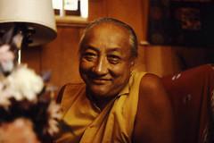 དིལ་མགོ་མཁྱེན་བརྩེ་ His Holiness Dilgo Khyentse Rinpoche's broad smile, Sakya Ward St Center, Seattle, Washington, USA 1976