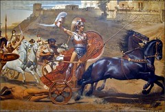 pack animal(0.0), carriage(0.0), chariot(1.0), vehicle(1.0), painting(1.0), mythology(1.0), middle ages(1.0), history(1.0), horse harness(1.0), chariot racing(1.0),