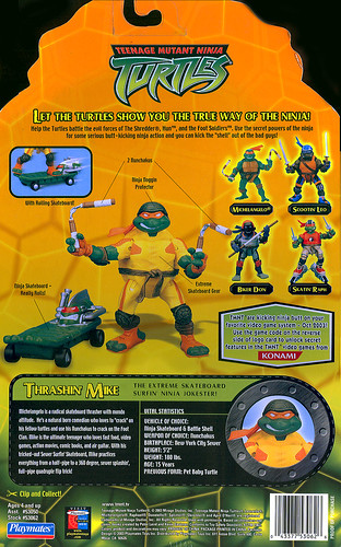 TEENAGE MUTANT NINJA TURTLES :: THRASHIN' MIKE  ..card back (( 2003 ))
