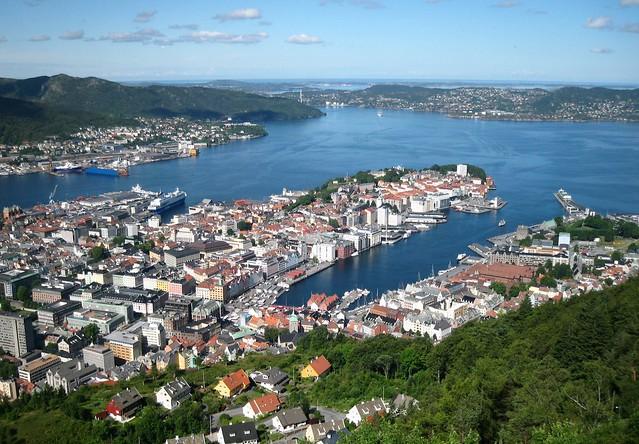 Panorama de Bergen, Norvège