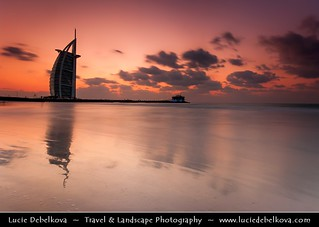 United Arab Emirates - Dubai - Burj Al Arab 7* Hotel at Sunset