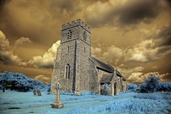 Infrared HDR St Andrew's church Little Barningham Norfolk