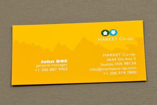 Market Co-op Business Card