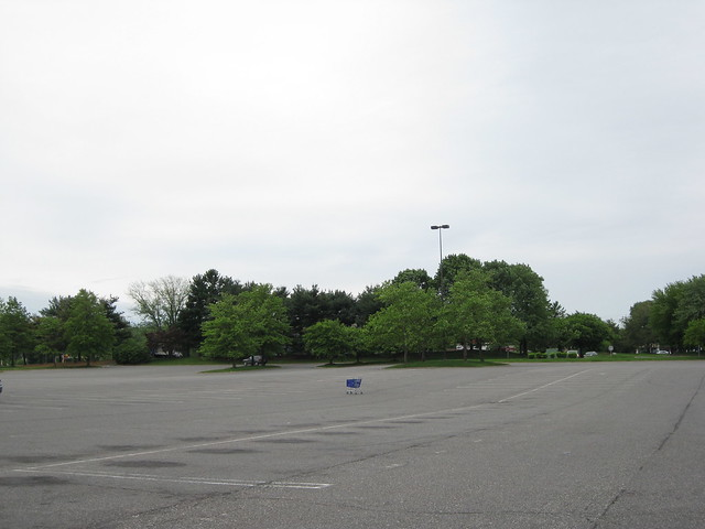 Lone Shopping Cart in the Parking Lot at the Burlington County Mall