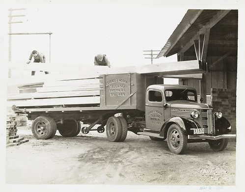 [Model T 16 A G 46 used for shipping wood.]