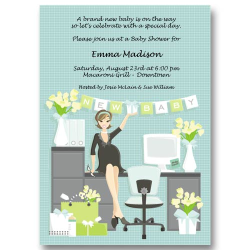 office blue baby shower invitations visit
