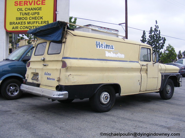 an old Helms Bakeries truck ( City of Bellflower CA)