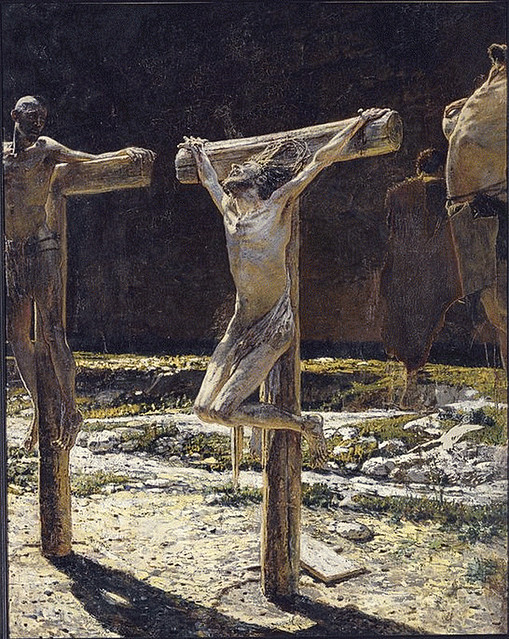Calvary, also called Golgotha; Crucifixion, by Nikolaï Gay c.1892