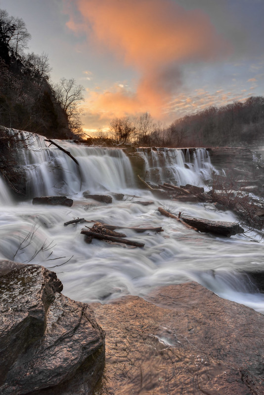 Lower Great Falls 3, Caney Fork River, Rock Island State Park, White and Warren County, Tennessee