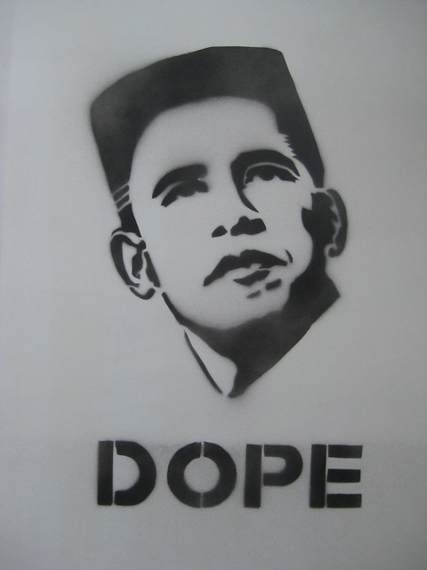 obama stencil quotdopequot i cant believe i didnt th