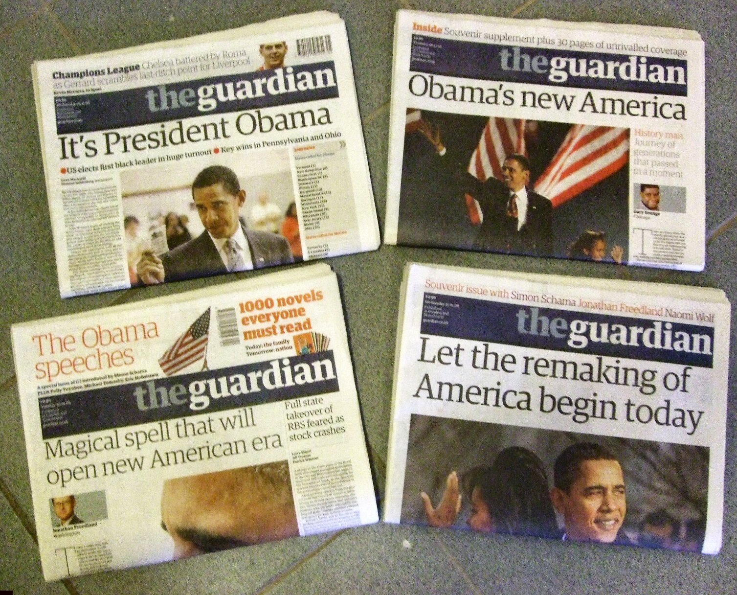 Barack Obama headlines from The Guardian