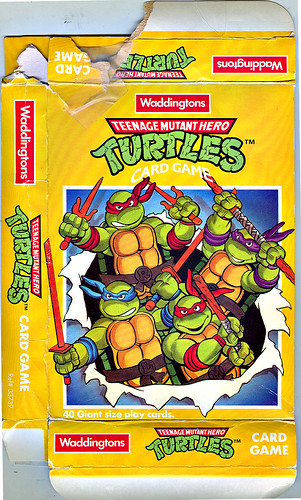 "Waddingtons ""Teenage Mutant Hero Turtles"" { TMNT } Card Game i  (( 1990 ))"