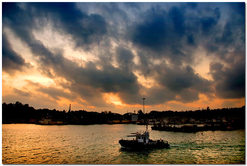 voyage ferry sunrise wide journey dramaticsky steamer andaman newday portblair pentax1855mm pentaxk200d