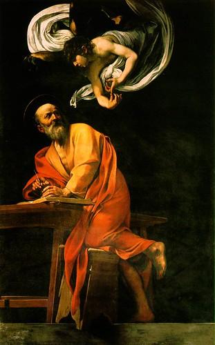 CARAVAGGIO-The Inspiration of Saint Matthew