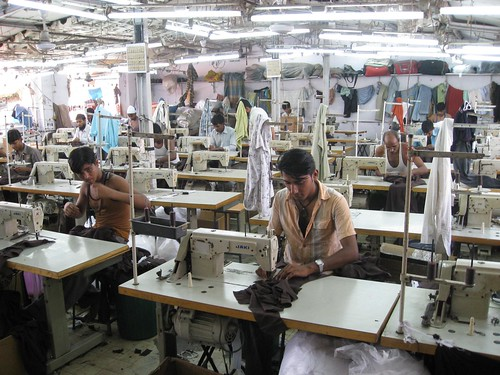 Sewing factory in India