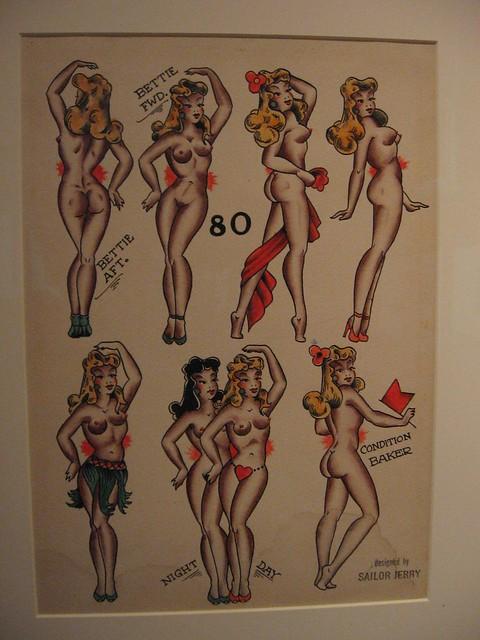 Img 1175 Sailor Jerry Tattoo Flash Ca 1940 By Libbyrosof Flickr Photo Sharing